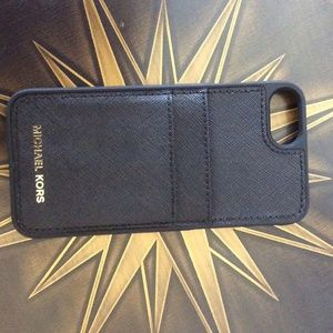 Michael Kors IPhone 7 case with two pockets NWOT